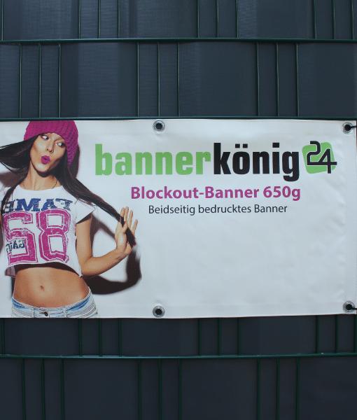 Blockout Banner - Beidseitig bedrucktes Banner