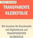 Transparente Klebefolie   BANNERKÖNIG