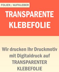 Transparente Klebefolie | BANNERKÖNIG