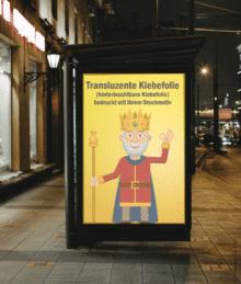 Transluzente Klebefolie   BANNERKÖNIG