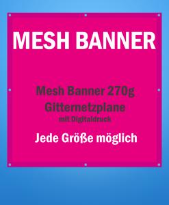 Mesh Banner drucken | BANNERKÖNIG