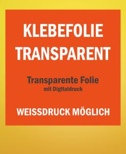 Transparente Folie drucken | BANNERKÖNIG