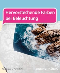 Transluzente Folie – Farben bei rückseitiger Beleuchtung | BANNERKÖNIG