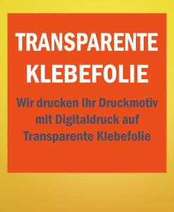 Transparente Folie   BANNERKÖNIG