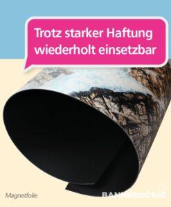 Magnetfolie – starke Haftung   BANNERKÖNIG