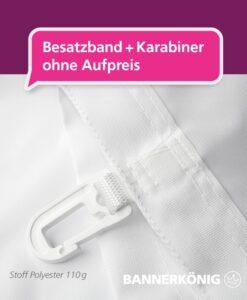 Fahne – Besatzband + Karabiner   BANNERKÖNIG