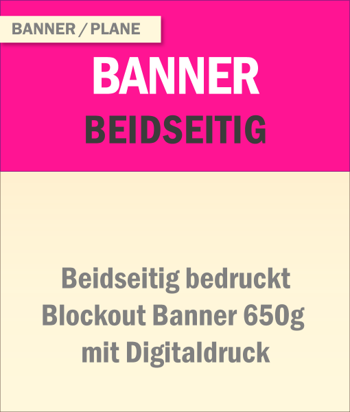 Beidseitig bedrucktes Banner | BANNERKÖNIG