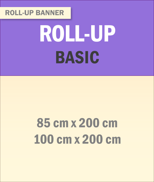 Roll-Up Banner Basic | BANNERKÖNIG