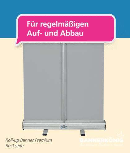 Roll-Up Premium – Aufbau | BANNERKÖNIG