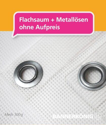 Mesh Banner – Flachsaum + Ösen | BANNERKÖNIG
