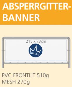 Banner für Absperrgitter 215 x 73 cm | BANNERKÖNIG