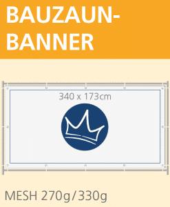 Bauzaunbanner Mesh 340 x 173 cm | BANNERKÖNIG