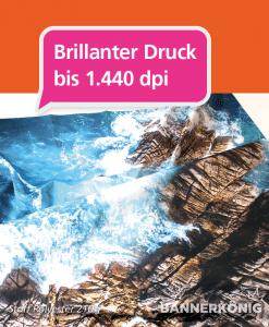 Stoffbanner / Textilbanner - Druckqualität | BANNERKÖNIG