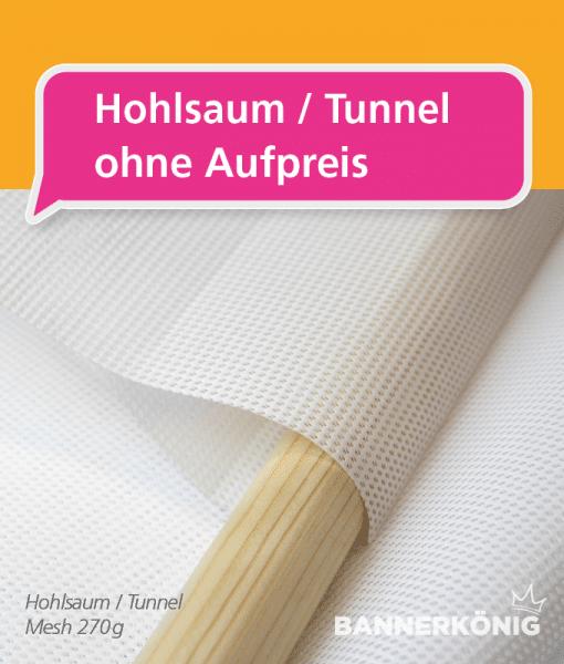 Gerüstbanner Mesh Wunschformat - Hohlsaum / Tunnel | BANNERKÖNIG