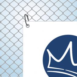 Banner befestigen - Zaun | BANNERKÖNIG