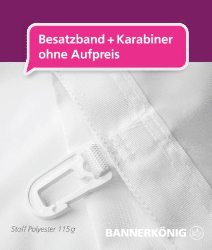 Fahne – Besatzband + Karabiner | BANNERKÖNIG