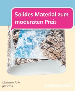 Monomer Folie – Material | BANNERKÖNIG