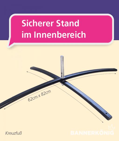 Beachflag-Zubehör - Kreuzfuß   BANNERKÖNIG