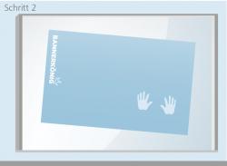 Nassmethode - Schritt 2 | BANNERKÖNIG