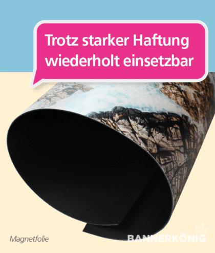 Magnetfolie – starke Haftung | BANNERKÖNIG