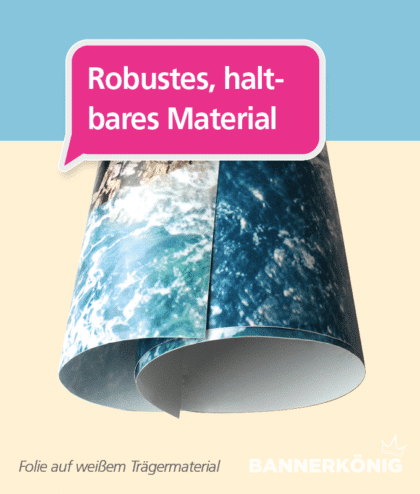 Transparente Folie – Material   BANNERKÖNIG