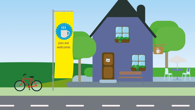 Flagge befestigen und hissen | BANNERKÖNIG