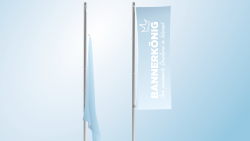 Flagge mit Ösen am Mast hissen | BANNERKÖNIG