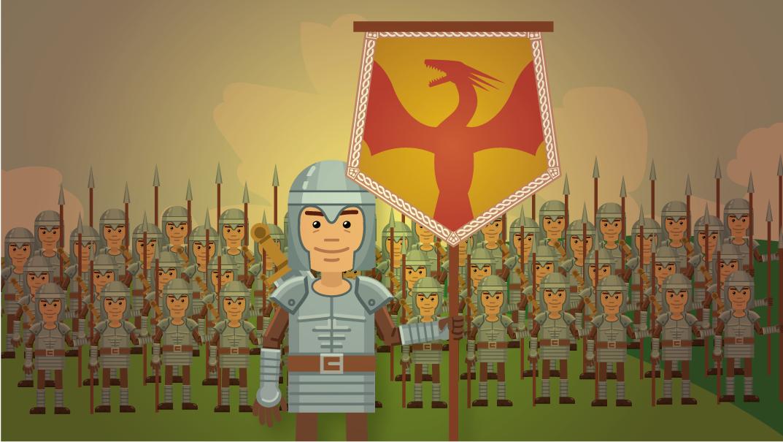 Bannerträger und Heer | BANNERKÖNIG