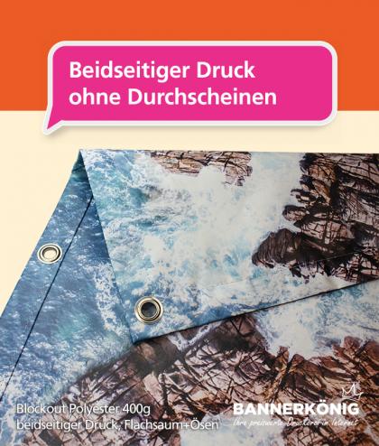 Stoffbanner/Textilbanner – Blockout 400g | BANNERKÖNIG
