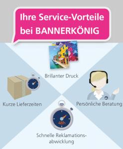 Ihre Service-Vorteile | BANNERKÖNIG