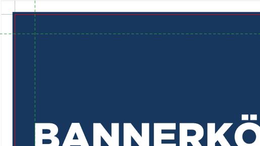 Teilansicht einer Druckdatei mit Beschnittzugabe | BANNERKÖNIG