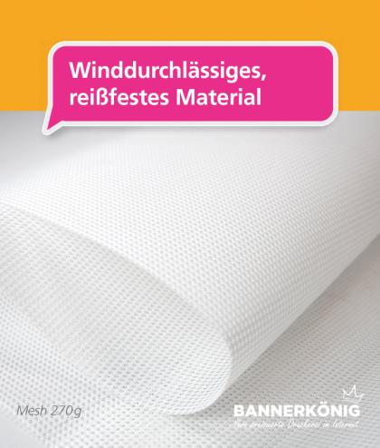 Material für Mesh Bannerprodukte | BANNERKÖNIG