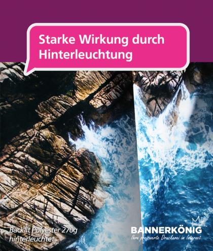 Fahne im Wunschformat – Backlit 270g | BANNERKÖNIG