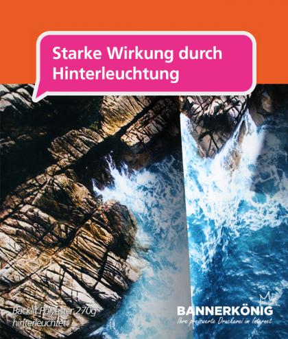 Stoffbanner/Textilbanner – Backlit 270g | BANNERKÖNIG