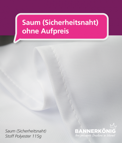 Hissflagge/Hissfahne – Sicherheitsnaht | BANNERKÖNIG