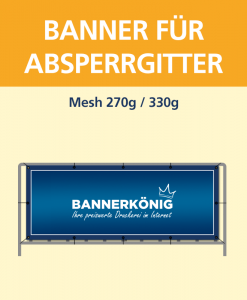 Banner für Absperrgitter | BANNERKÖNIG