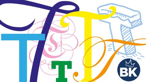 Bunte Möglichkeiten der typografischen Gestaltung | BANNERKÖNIG