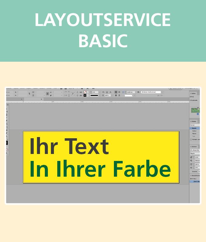 Layoutservice Basic | BANNERKÖNIG