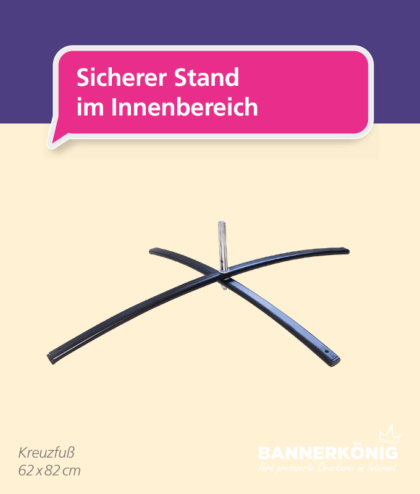 Beachflag-Zubehör – Kreuzfuß | BANNERKÖNIG