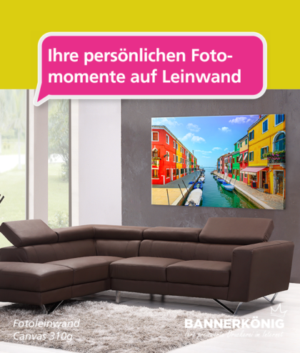 Fotoleinwand – persönliche Dekoration | BANNERKÖNIG