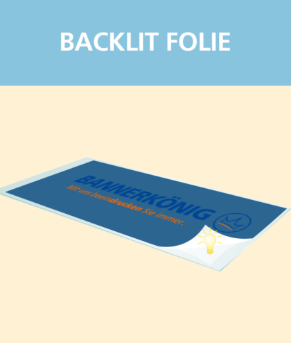 Backlit Folie | BANNERKÖNIG