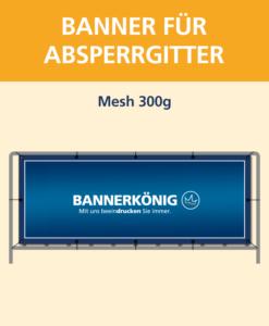 Banner für Absperrgitter Mesh | BANNERKÖNIG