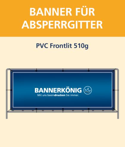 Banner für Absperrgitter PVC | BANNERKÖNIG
