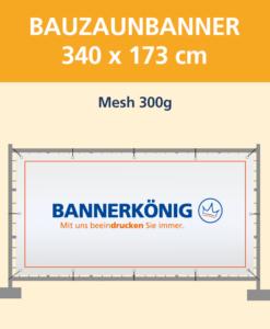 Bauzaunbanner Mesh | BANNERKÖNIG
