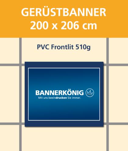 Gerüstbanner PVC, 200x206cm   BANNERKÖNIG