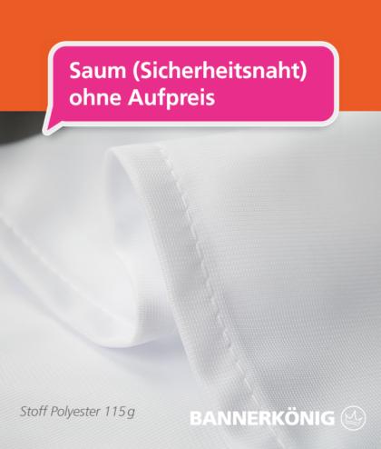 Stoffbanner/Textilbanner – Sicherheitsnaht | BANNERKÖNIG