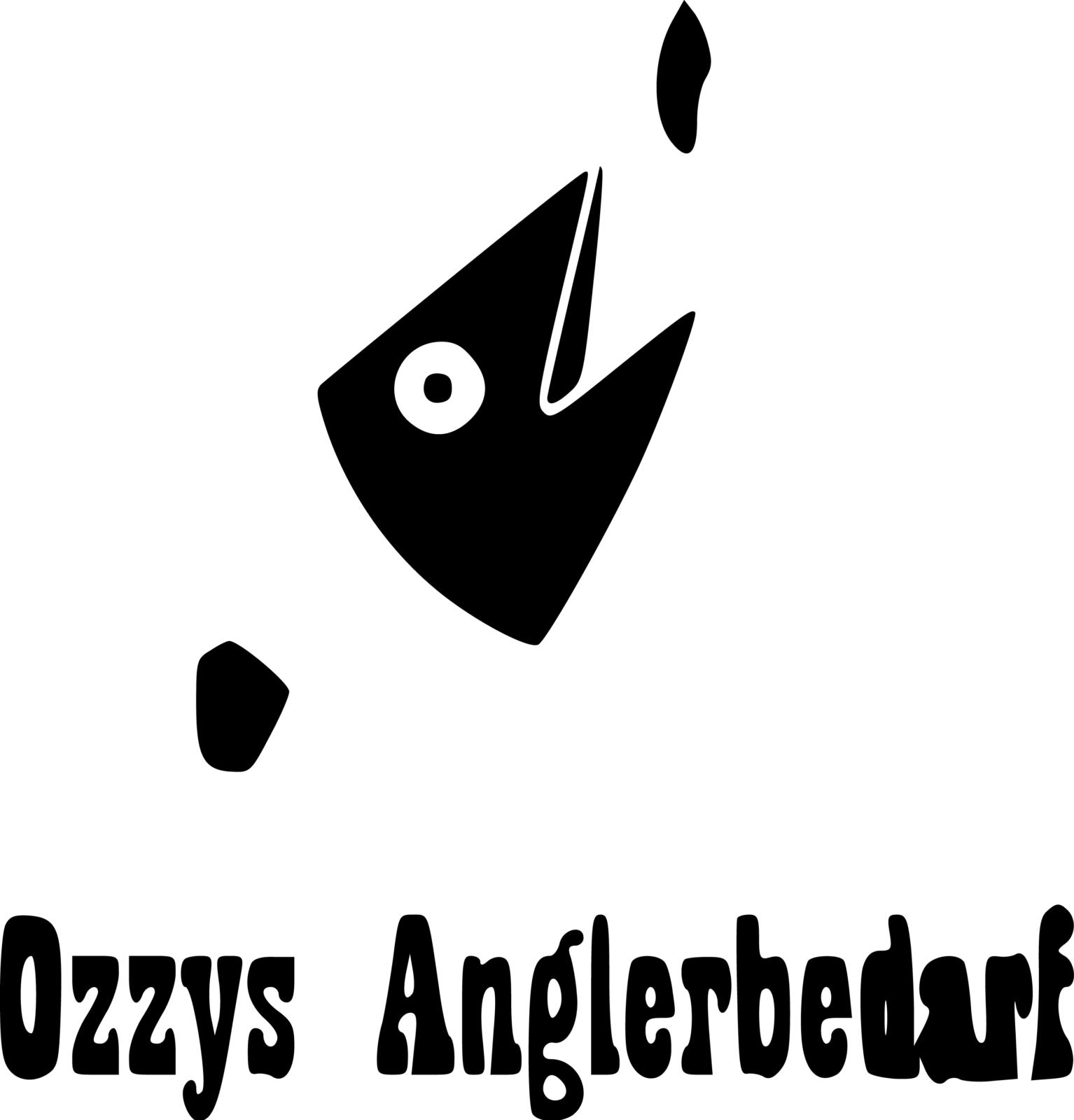 Logo Ozzys Anglerbedarf - Vectorization | BANNERKÖNIG
