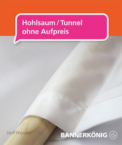 Stoffbanner/Textilbanner – Hohlsaum