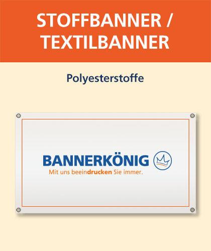 Symbolbild und Illustration eines Stoffbanner / Textilbanner