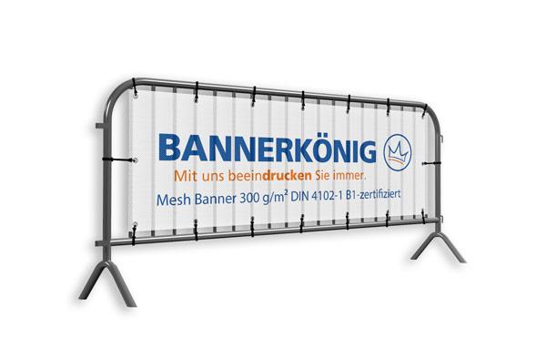 Banner aus Mesh-Gewebe mit Wunschaufdruck für Absperrgitter/Absperrungen